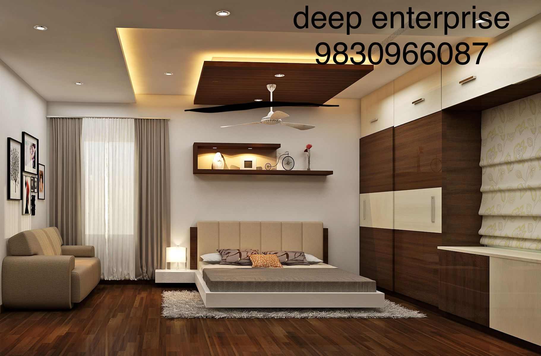 home decoration ,bedroom design , bedroom interior , bedroom falseceiling ,