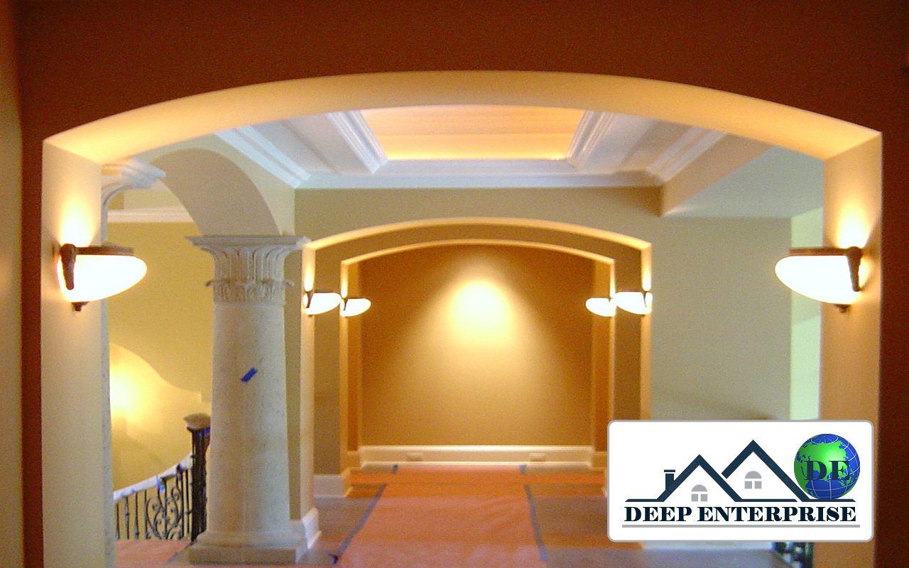 Gypsum Arch Design, Deep Enterprise, Gypsum Arch Design Contractor,
