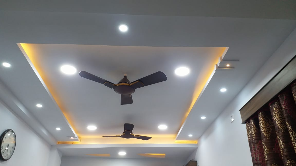 drying room fall ceiling , gypsum Bord False Ceiling , designer of Falsceiling ,  Home false ceiling ,  2BHK flat , roof ceiling design ,